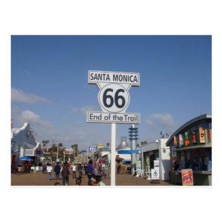 サンタモニカ、カリフォルニア- RT 66 ポストカード