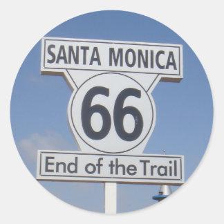 サンタモニカ、カリフォルニア- RT 66 ラウンドシール