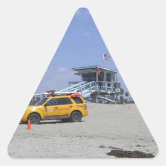 サンタモニカ 三角形シール