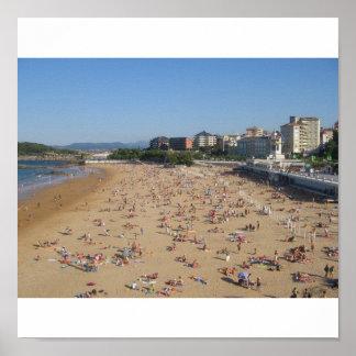 サンタンデルのビーチ ポスター