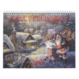 サンタ屋根、メリークリスマス         2007年 カレンダー