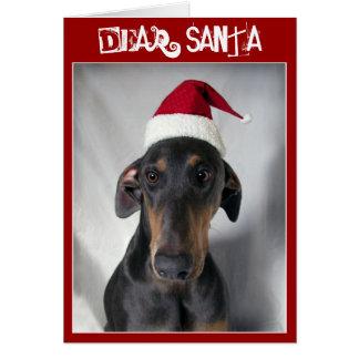 サンタ犬のクリスマスの挨拶状 カード