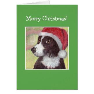 サンタ犬のクリスマスカード グリーティングカード