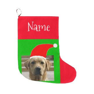 サンタ犬4Papa Joey ラージクリスマスストッキング