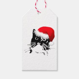 サンタ猫のギフトのラベル ギフトタグ