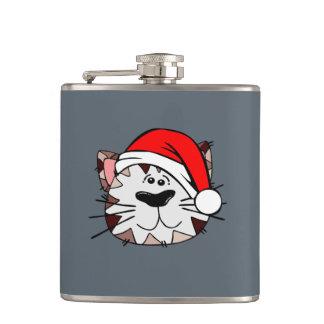 サンタ猫のビニールの包まれたなフラスコ フラスク