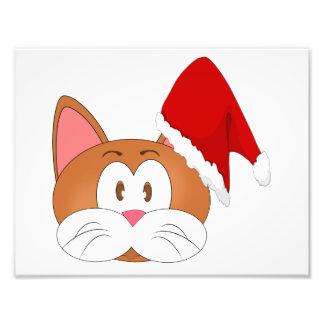 サンタ猫 フォトプリント