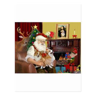 サンタ2のウェールズのコーギー(Pem。) ポストカード