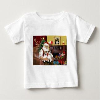 サンタ2のジャックラッセル ベビーTシャツ