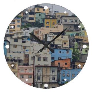 サンタ・アナの丘-グアヤキルエクアドル ラージ壁時計