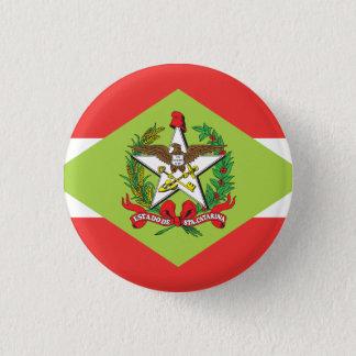 サンタ・カタリナ、ブラジルの国家の旗ボタン 3.2CM 丸型バッジ