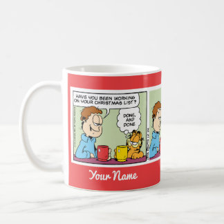 """""""サンタ""""ガーフィールドの続きこま漫画のマグへの電子メールを送られたリスト コーヒーマグカップ"""