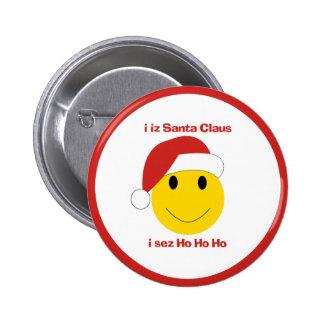 サンタ|スマイリー|クリスマス|カード|ギフト 缶バッジ