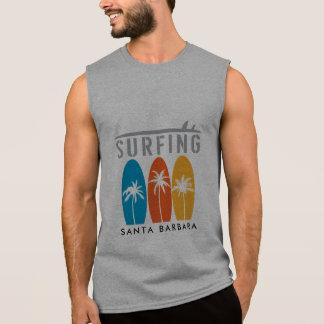 サンタ・バーバラのサーフィンのカスタムのTシャツ 袖なしシャツ
