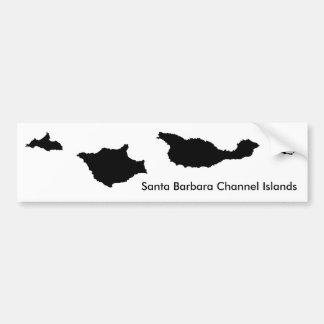 サンタ・バーバラのチャネル諸島 バンパーステッカー