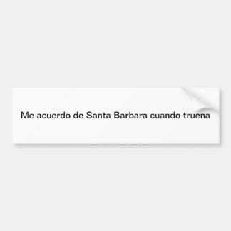 サンタ・バーバラ バンパーステッカー