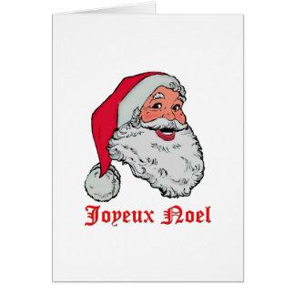 サンタJoyeux Noel グリーティングカード