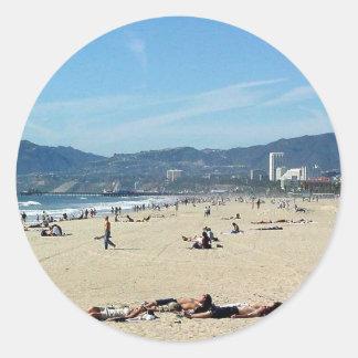 サンタMonicと北に見るベニスのビーチ ラウンドシール