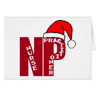 サンタNPの大きい赤ナースの従業者 カード