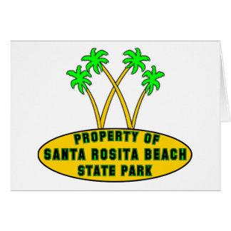 サンタRositaのビーチの州立公園 カード