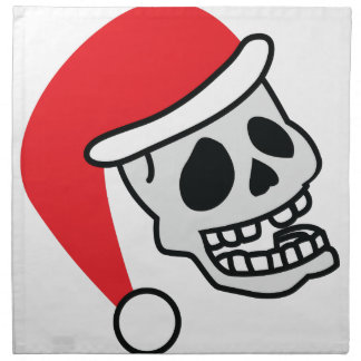 サンタSkullyの骨組クリスマス ナプキンクロス