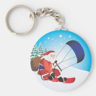 サンタSnowkiteのスノーボードKeychain キーホルダー