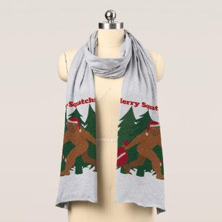サンタSquatchのおもしろいで名前入りで醜いクリスマス スカーフ