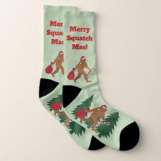 サンタSquatchの休日のビッグフットLRGの醜いクリスマス ソックス
