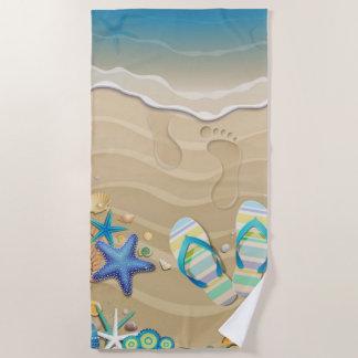 サンダルのビーチ ビーチタオル