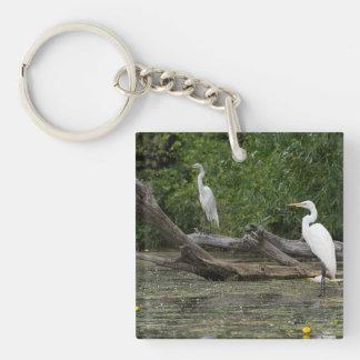 サンダーベイの川のkeychainの白鷺 キーホルダー