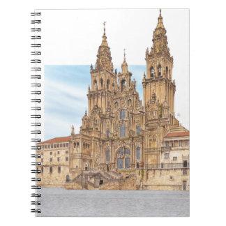 サンティアゴ・デ・コンポステーラ。 西部のfaçade。 スペイン ノートブック