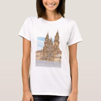 サンティアゴ・デ・コンポステーラ。 西部のfaçade。 スペイン tシャツ