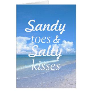 サンディのつま先および塩辛いキス カード