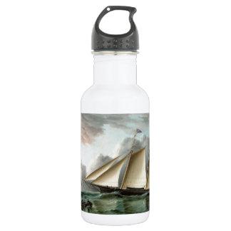 サンディのホックの灯台を離れたスクーナー船のモホーク語 ウォーターボトル