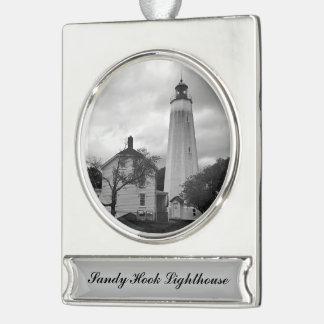 サンディのホックの灯台 シルバープレートバナーオーナメント
