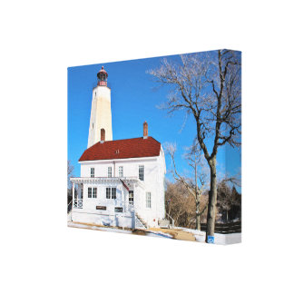 サンディのホックの灯台、ニュージャージーのキャンバスプリント キャンバスプリント