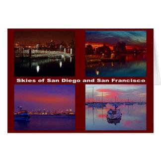 サンディエゴおよびサンフランシスコの空 カード