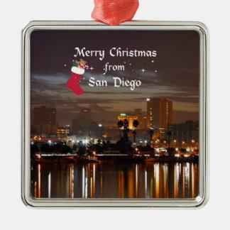 サンディエゴからのメリークリスマス メタルオーナメント