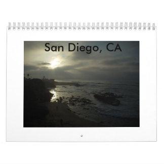 サンディエゴのカリフォルニアのカレンダー カレンダー