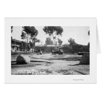 サンディエゴのカリフォルニアの古い町の広場の眺めの写真 カード