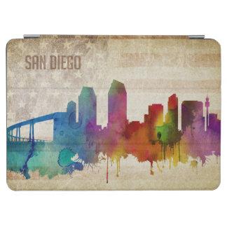 サンディエゴのカリフォルニア|の水彩画都市スカイライン iPad AIR カバー