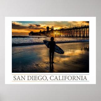 サンディエゴのサーファー ポスター