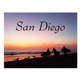 サンディエゴのサーファー ポストカード