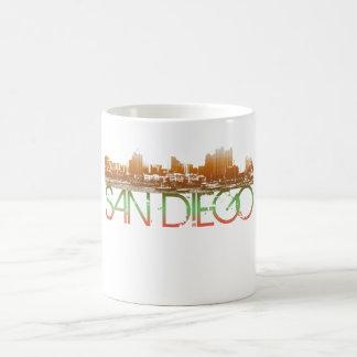 サンディエゴのスカイラインのデザイン コーヒーマグカップ