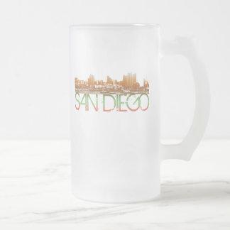 サンディエゴのスカイラインのデザイン フロストグラスビールジョッキ