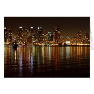 サンディエゴのスカイライン夜 カード