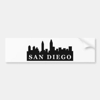 サンディエゴのスカイライン バンパーステッカー