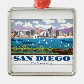 サンディエゴのスカイライン メタルオーナメント