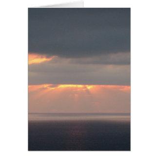 サンディエゴのビーチの日没 カード