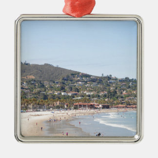 サンディエゴのビーチ メタルオーナメント